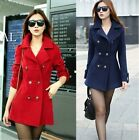 Womens New Double-breasted Slim Winter Warm Trench Coat / Jacket Overcoat S-XL -LD
