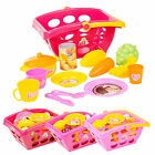 Girls Barbie Market Shopping Basket Role Play Toy Plastic Fruit Food & Utensils