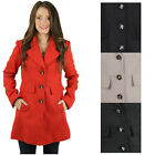 Jessica Simpson Women's Peacoat Single Breasted Wool Coat Jacket