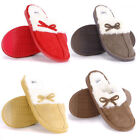 Fur Trim Lined Mule Bow Slip On Low Slippers Bedroom Shoes Womens Size  womens