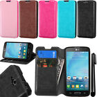 For LG Optimus L90 D405 D415 Wallet LEATHER POUCH Flip Case Cover Phone + Pen