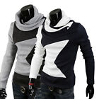 Mens Fashion Hoodies Style Top Design Turtleneck Pullover Sweater 4 Size -US BD