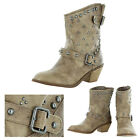Not Rated By Naughty Monkey Baja Women's Studded Western Boots Cowgirl