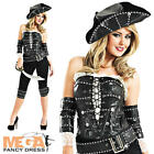 Ship Mate Pirate Ladies Fancy Dress Trouser Suit Womens Halloween Adult Costume