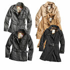# SURPLUS™ Raw Vintage Damen Jacke Armored Jacket / Trenchcoat  Mantel Pea Coat