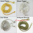 8 New Chain With Lobster Clasps Connector Necklaces 4Colors-1 For Craft DIY 50cm