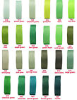 "5y 10y 25mm 1"" Green Moss Emerald Grosgrain Ribbon All Occasions Eco Quality"