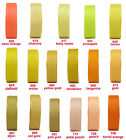 "BUY 4 GET 1 FREE 5/10y 25mm 1"" Yellow Gold Peach Orange Grosgrain Ribbon Eco"