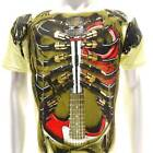 a43n Artful T-shirt M L XL  XXL Tattoo Skull Guitar Music Heavy Metal Rock Rider