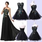 Formal Peacock CocktailGown Party Prom Bridesmaid Evening Dress Size Stock 6-20