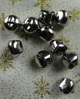 10 Metal Bells Cat Jingle Bells Silver Christmas Crafts Choose Size 10mm To 20mm