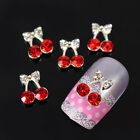 10pcs Cherry Fruit Alloy 3D Rhinestone Glitters Slices Nail Art Tips Decoration