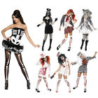 Smiffys Ladies Fancy Dress Womens Party Scary Halloween Theme Costumes All Sizes