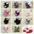 Infant Toddler Baby Boy Girl Soft Sole Winter Warm Shoes Snow Boots UK Size 123