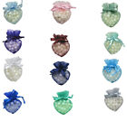 LOTS 10x8cm Organza Heart Shape Wedding Pouch Bag Valentine All Occasions 4x3.5""