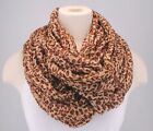 Infinity Scarf Brown Leopard Animal Print cowl lightweight Crinkle Cotton