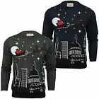Mens Merry Xmas Christmas Jumper Knit Sweater Novelty Santa Elf