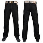 NEW MENS BLACK KAM K121-72 DESIGNER STRAIGHT LEG JEANS ALL WAIST & LEG SIZES