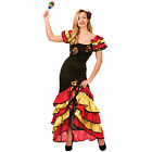 Ladies Spanish Rumba Dancer Halloween Fancy Dress Up Party Costume Outfit New