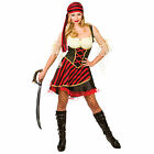 Ladies Glamorous Pirate Seas Halloween Fancy Dress Up Party Costume Outfit New
