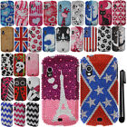 For Samsung Stratosphere i405 DIAMOND BLING CRYSTAL HARD Case Phone Cover + Pen