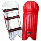 Junior Cricket Batting Leg Guard Pads KIDS,BOYS,YOUTH RED