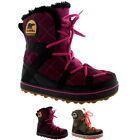 Womens Sorel Glacy Explorer Shortie Fur Laced Winter Snow Rain Ankle Boot UK 3-8