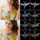 Animal Jewelry Necklace Pendant Dragonfly Choker Crystal Sweater Chain Fashion