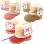 New Pretty Baby Girls Toddler Winter Fur Shoes Snow Boots rabbit 9-72 Months