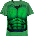 The Incredible Hulk Costume Tee Shirt  Marvel Asst Sizes New S-2X