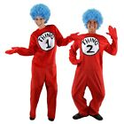 Thing 1 and Thing 2 Costumes Adult Thing One and Thing Two Dr Seuss Fancy Dress