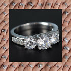 18K White Gold Filled Jewelry Gift white Sapphire Engagement Ring Uk SIZE 7 New