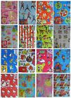 Character Birthday Wrapping Paper & Tags (2 Sheets Gift Wrap & 2 Tags/pack)