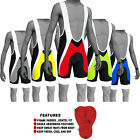 Cycle Cycling Bib Shorts Front Bib Tights Shorts Anti-Bac Padding S to XXL