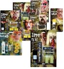 SPECIAL EFFECTS FX MAKE-UP KITS HALLOWEEN ZIPPER FACE ZOMBIE SKIN FANCY DRESS
