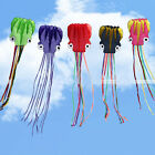 Super New Outdoor Sports Toy Beach 6M Octopus Soft Kite Fun 30m Fly line Handle