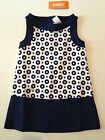 Gymboree Parisian Afternoon Girls size 4 5 OR 6 navy Circle Dress NWT