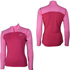 More Mile Womens Heather Half Zip Running Fitness Gym Sport Long Sleeve Top Pink