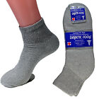 3-12 Pairs Gray Diabetic Ankle Quarter Crew Socks Health Men Women Loose Fit Top $6.99 USD on eBay