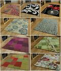 Small Large MODERN CONTEMPORARY RUGS available in multi red blue purple green.
