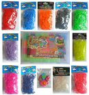 LOOM BANDS - Regenbogen Looms Gummiband Bandz Twistz Kinder Armband Set