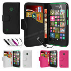 Book Flip Wallet Leather Case Cover For NOKIA Lumia 530 Screen Protector