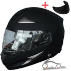 Leopard LEO-816 Full Face Motorcycle Motorbike Helmet Matt Black + Dark Visor