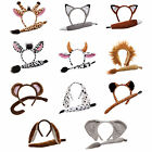 Adults Animal Ears Headband & Tail Set Fancy Dress Party Halloween Accessoy New