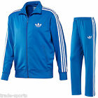 adidas FIREBIRD FULL TRACKSUIT SIZE S M L XL XXL MENS BLUE SPORTS TRAINING BNWT