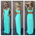 POP Women Sexy Prom Ball Gown Maxi Long Party Cocktail Evening Wedding Dress #LA