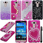 For LG G3 mini Vigor D725 DIAMOND BLING CRYSTAL HARD Case Cover Phone + Pen