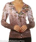 Pink/Purple Soft Floral/Scroll Sublimation Long Sleeve Cardigan/Sweater Top