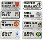 OFFICIAL FOOTBALL CLUB - METAL RETRO STADIUM STREET SIGN PLAQUE WALL GIFT XMAS