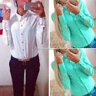 Blouses With Zipper At Sleeve Chiffon  Long Sleeve Women's Office SH